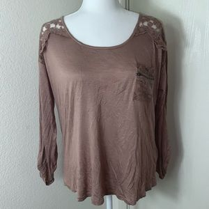 Anthropologie Miss Daisy Soft Pink Lace Top